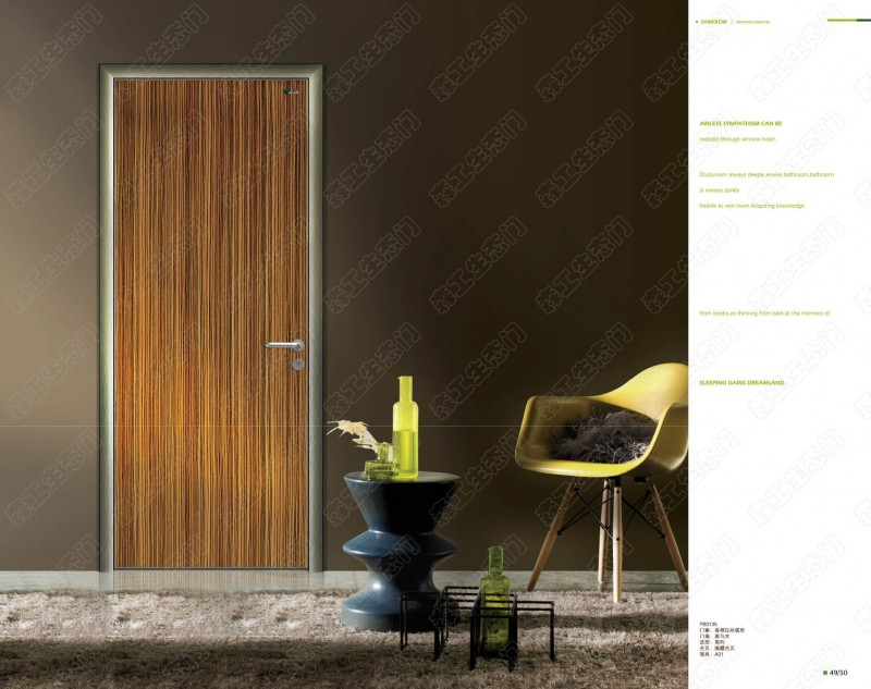 Aluminum Frame Flush Door For Bedroom