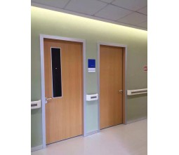 Hospital Ward Door With Glass Window