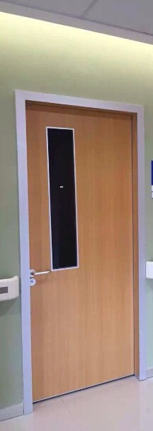 Wooden Clinic Door With Glass Window