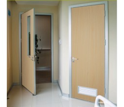 Aluminum frame patient room door design
