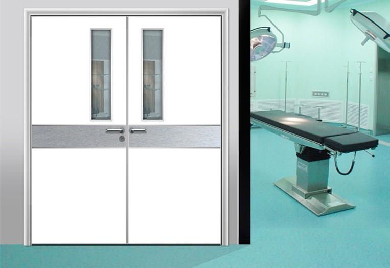 Hospital Hygienic Doors With Glass Window