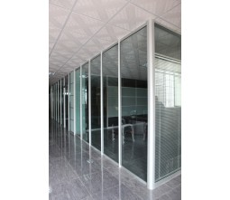 Used Office Glazed Partition Wall