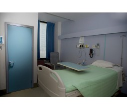 Modern hospital doors and rooms