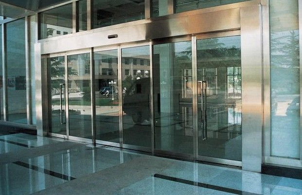 electric hospital entrance glass door design