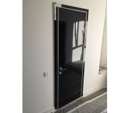 high gloss black acrylic doors