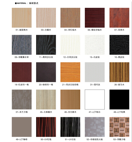 color chart for door facing