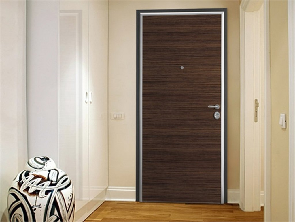 Melamine flush bedroom door for Simple room door design