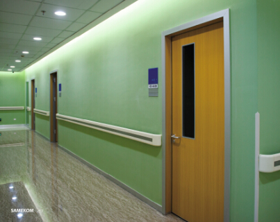 The Patient Room Door With Glass Window