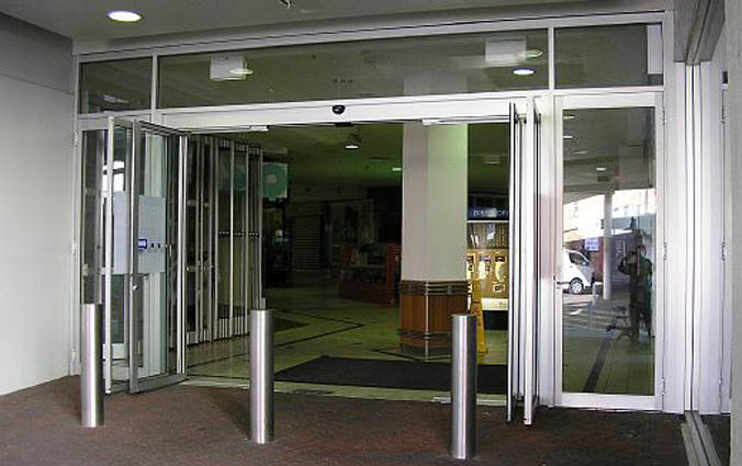 Automatic Sliding And Swinging Entrance Door