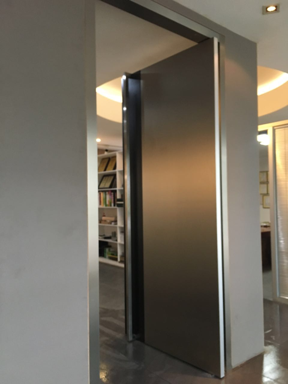 Pivot Entry Doors : Modern wooden front pivot door